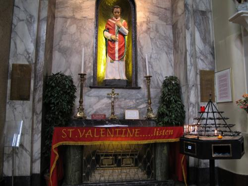 St. Valentine In The Whitefriar Street Carmelite Church Dublin
